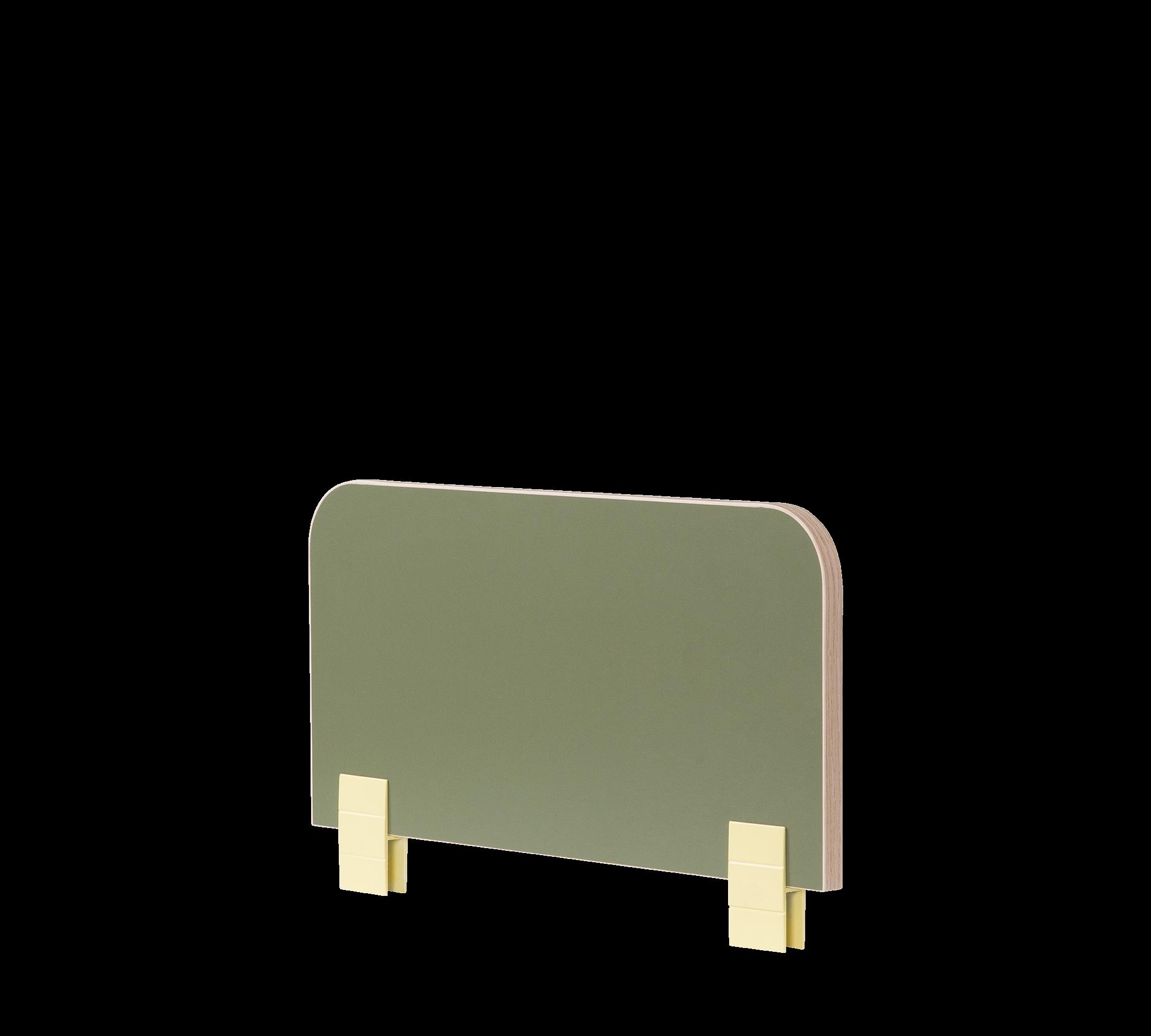 Protectie din pal pentru pat copii Montessori Verde, l50xA2xH29 cm imagine