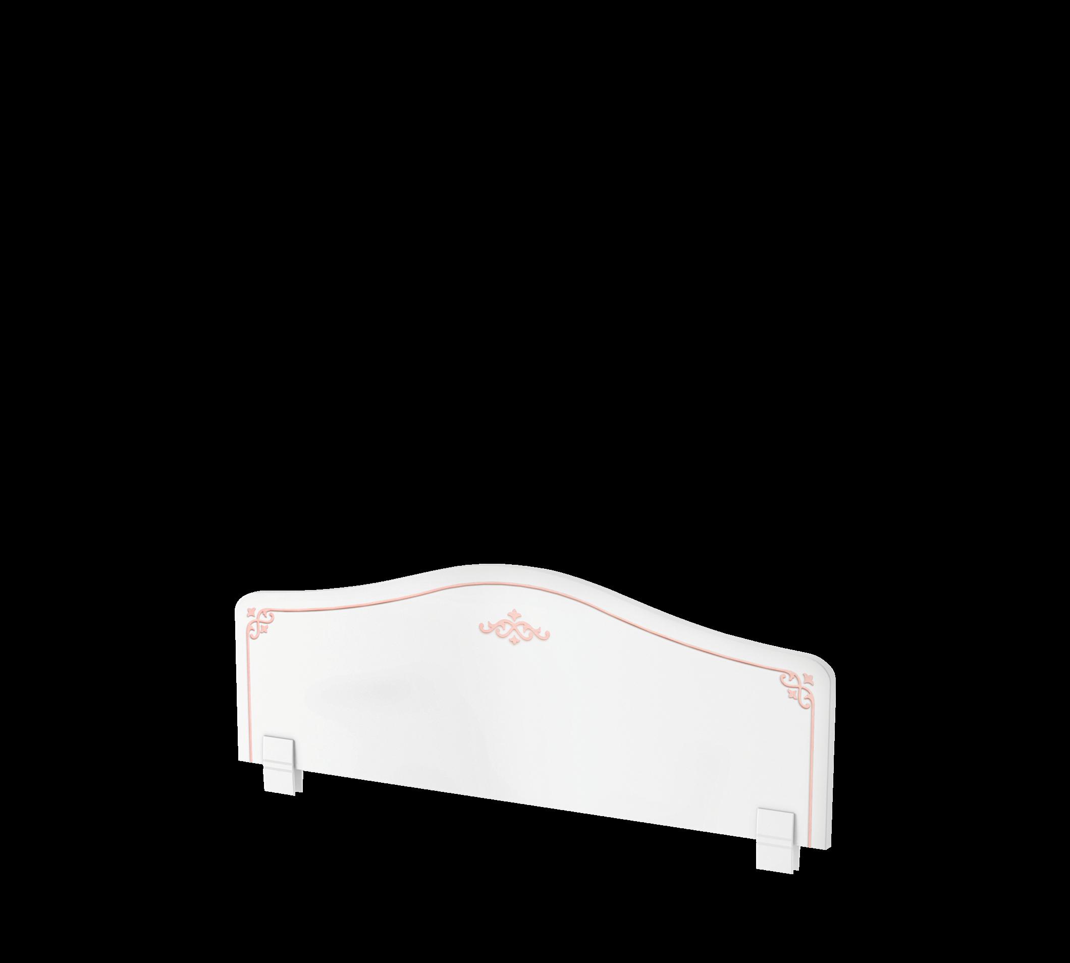 Protectie din pal pentru pat copii Pink Alb / Roz, l90xA2xH36 cm imagine