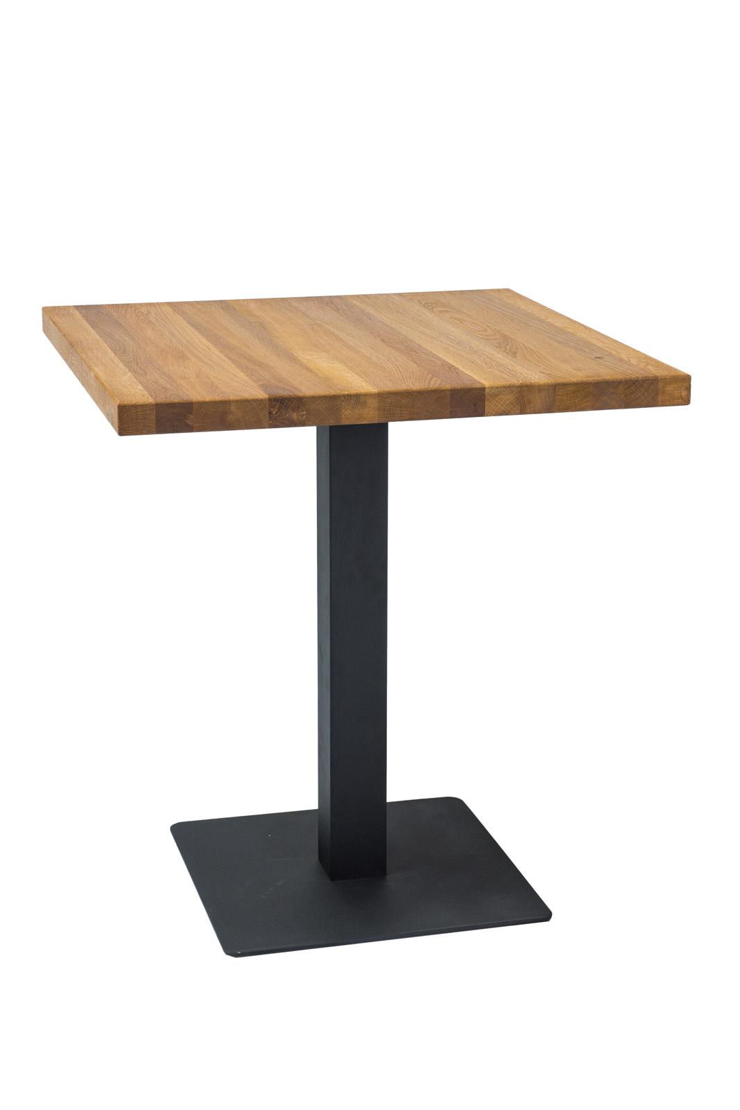 Masa din metal si lemn de stejar Puro Dab L80xl80xh76 cm