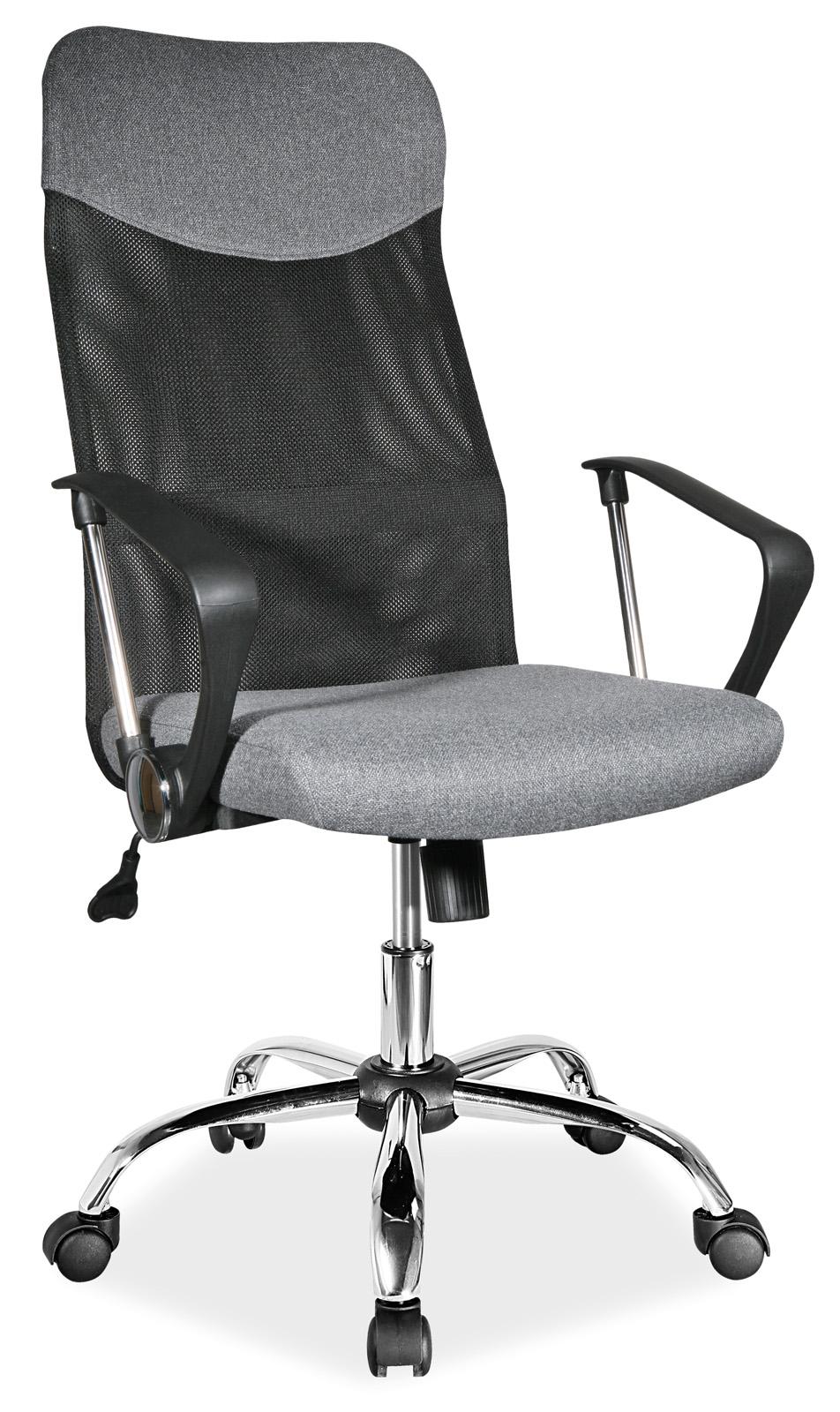 Scaun de birou ergonomic tapitat cu stofa Q-025 Grey, l62xA50xH107-116 cm vivre.ro