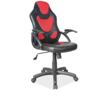 Scaun de birou ergonomic Q-100 Black / Red poza