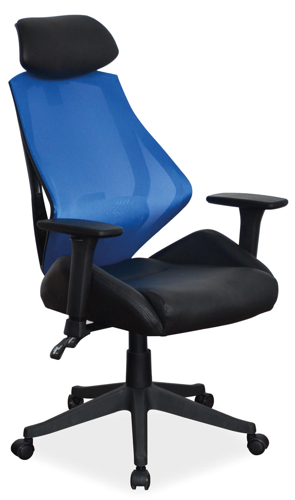 Scaun de birou ergonomic Q-406 Blue / Black