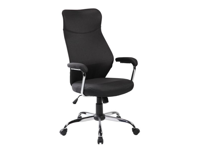 Scaun de birou ergonomic tapitat cu stofa Q-319 Black, l64xA52xH112-122 cm