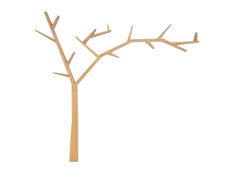 Raft din lemn de pin Poprad Tree Right Natural, l255xA15xH220 cm imagine