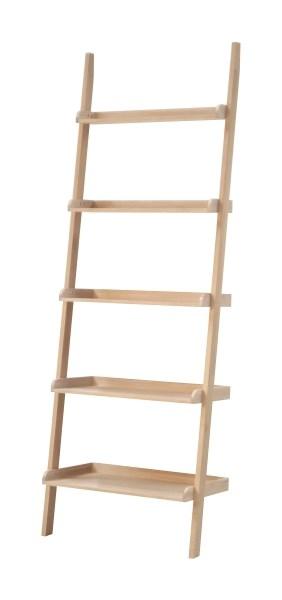 Raft din lemn si MDF Wall Stejar, l66,5xA35xH189 cm