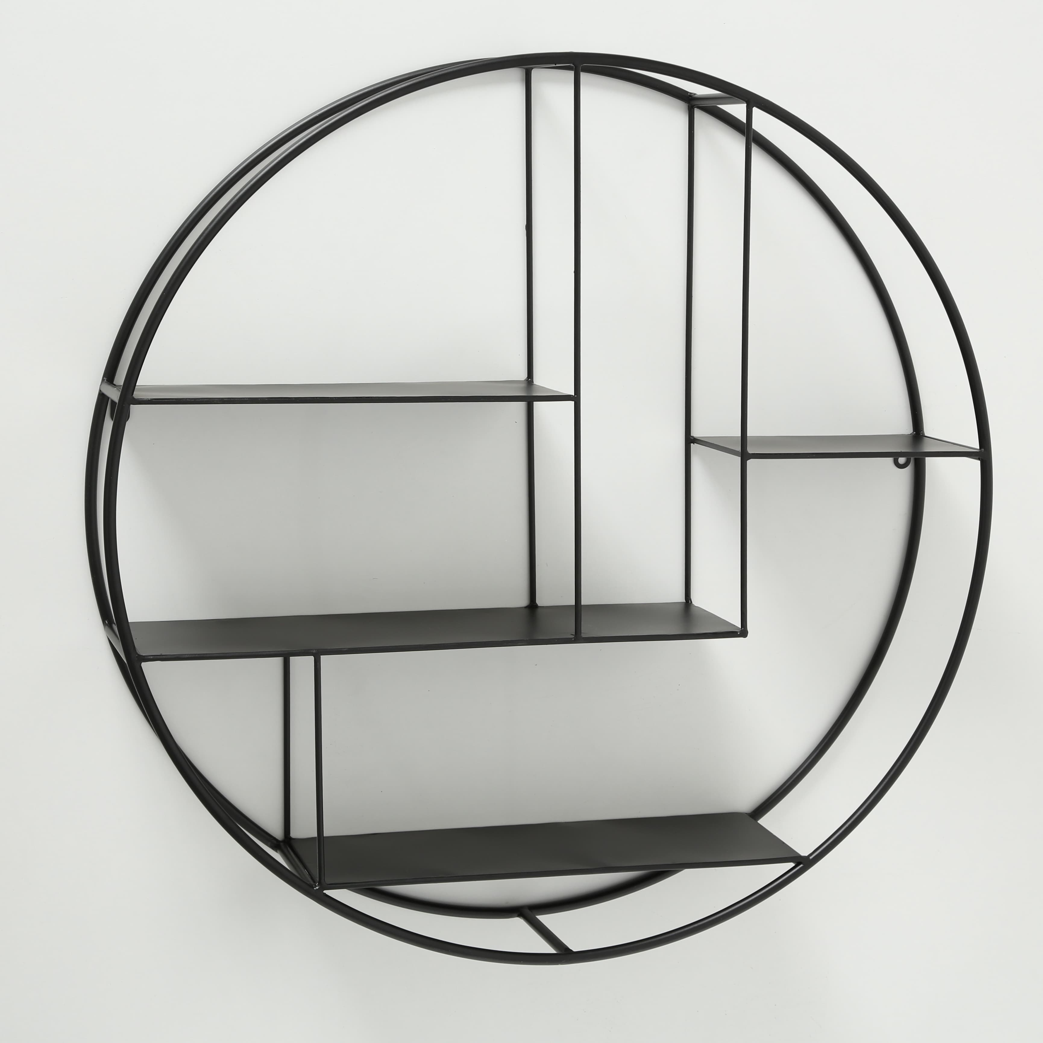 Raft suspendat din metal Carlton Negru, Ø74xH17 cm