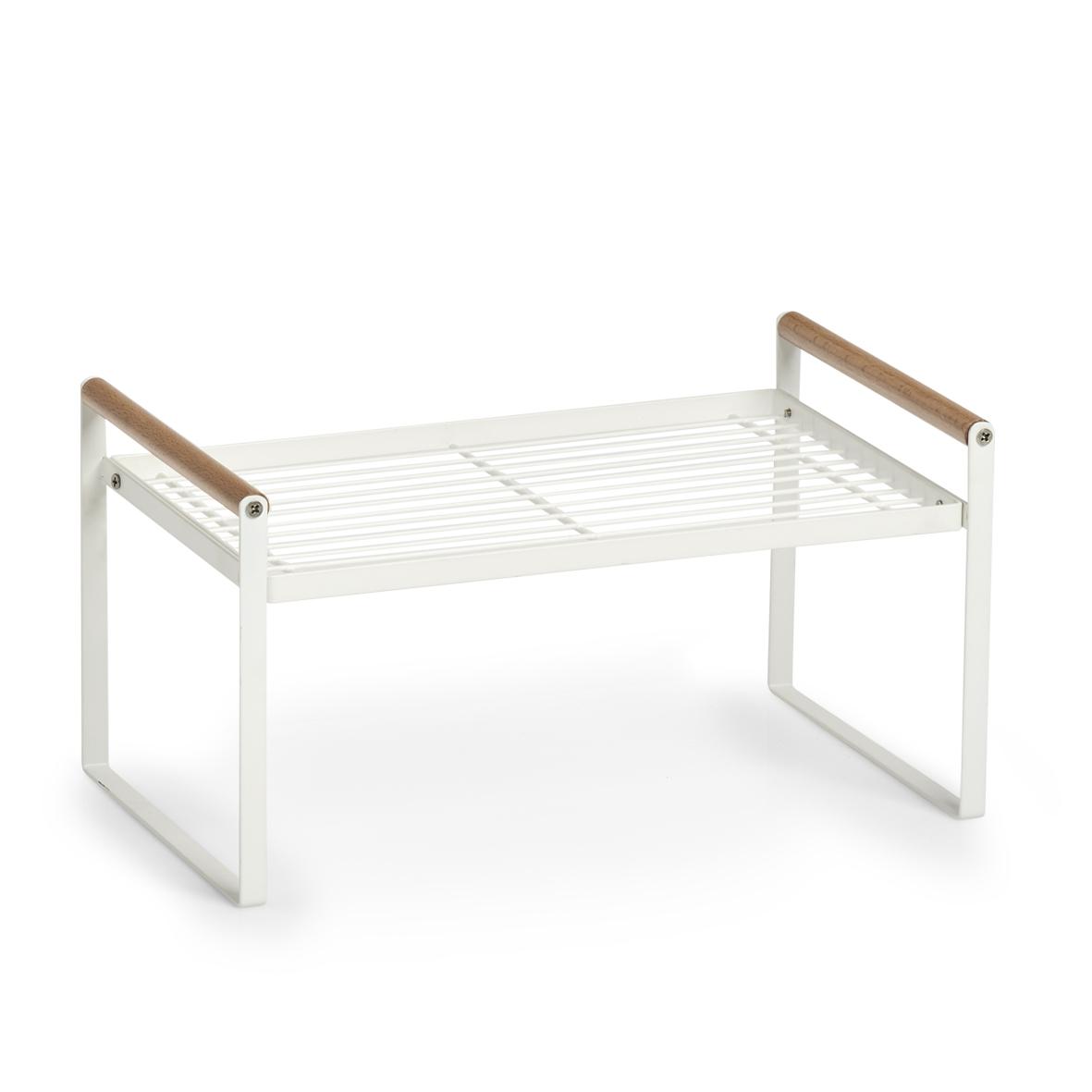 Raft universal din metal si lemn, Nordic Alb, l34,5xA21,5xH18 cm imagine
