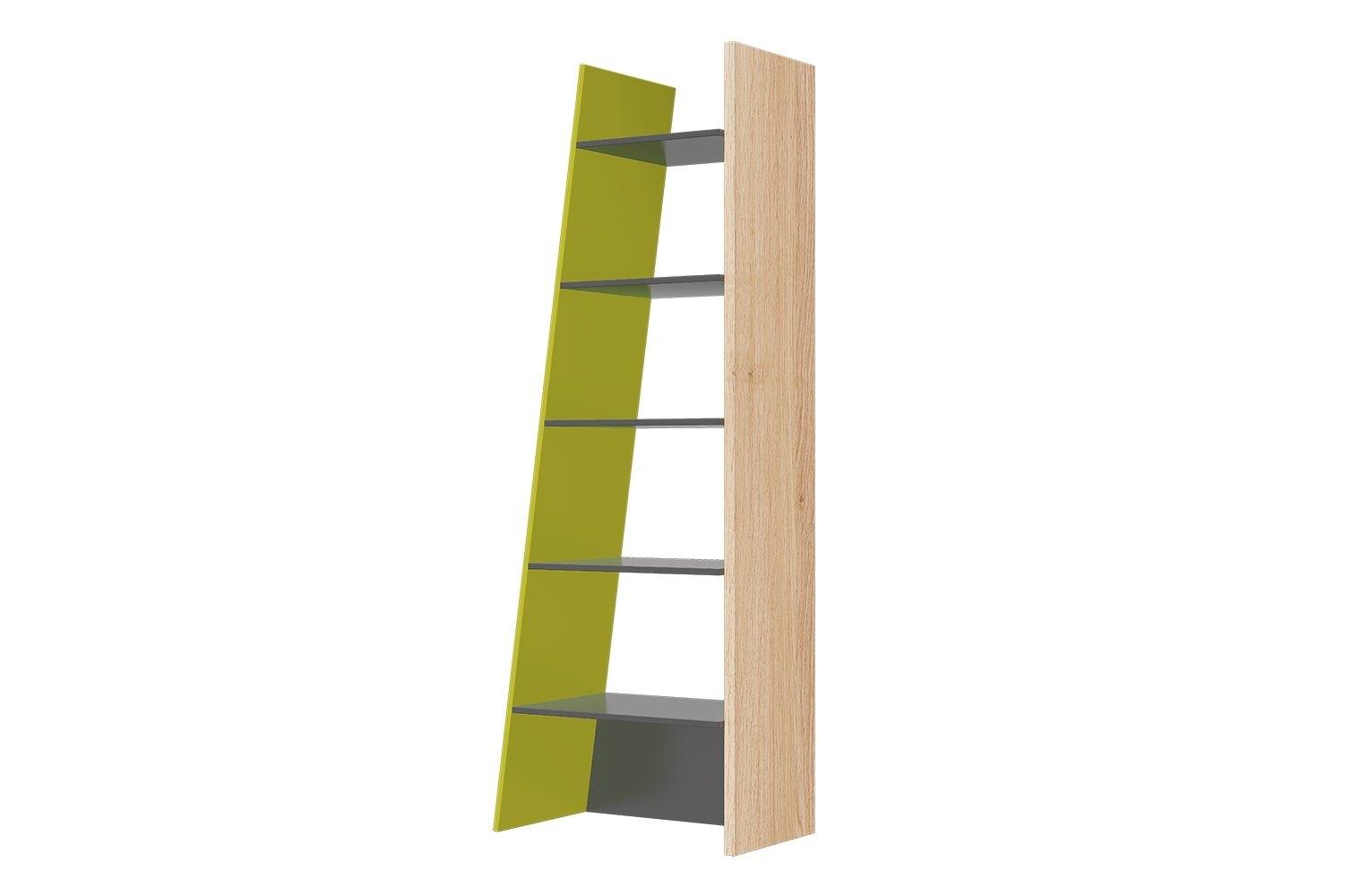 Raft din pal Wow 02 Green / Oak l62xA39xH196 cm