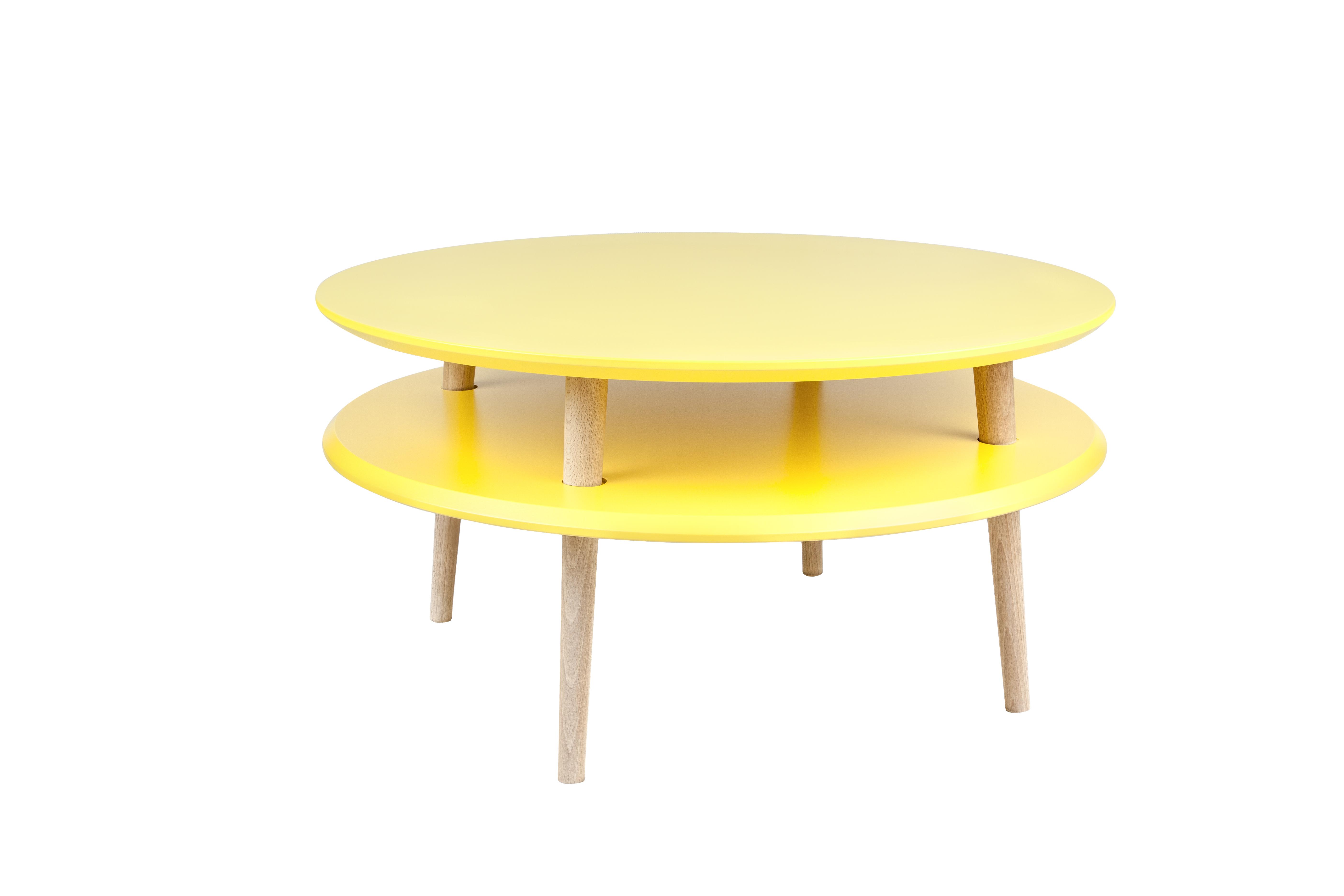 poze cu Masa de cafea Ufo Low Yellow, Ø70xh35 cm
