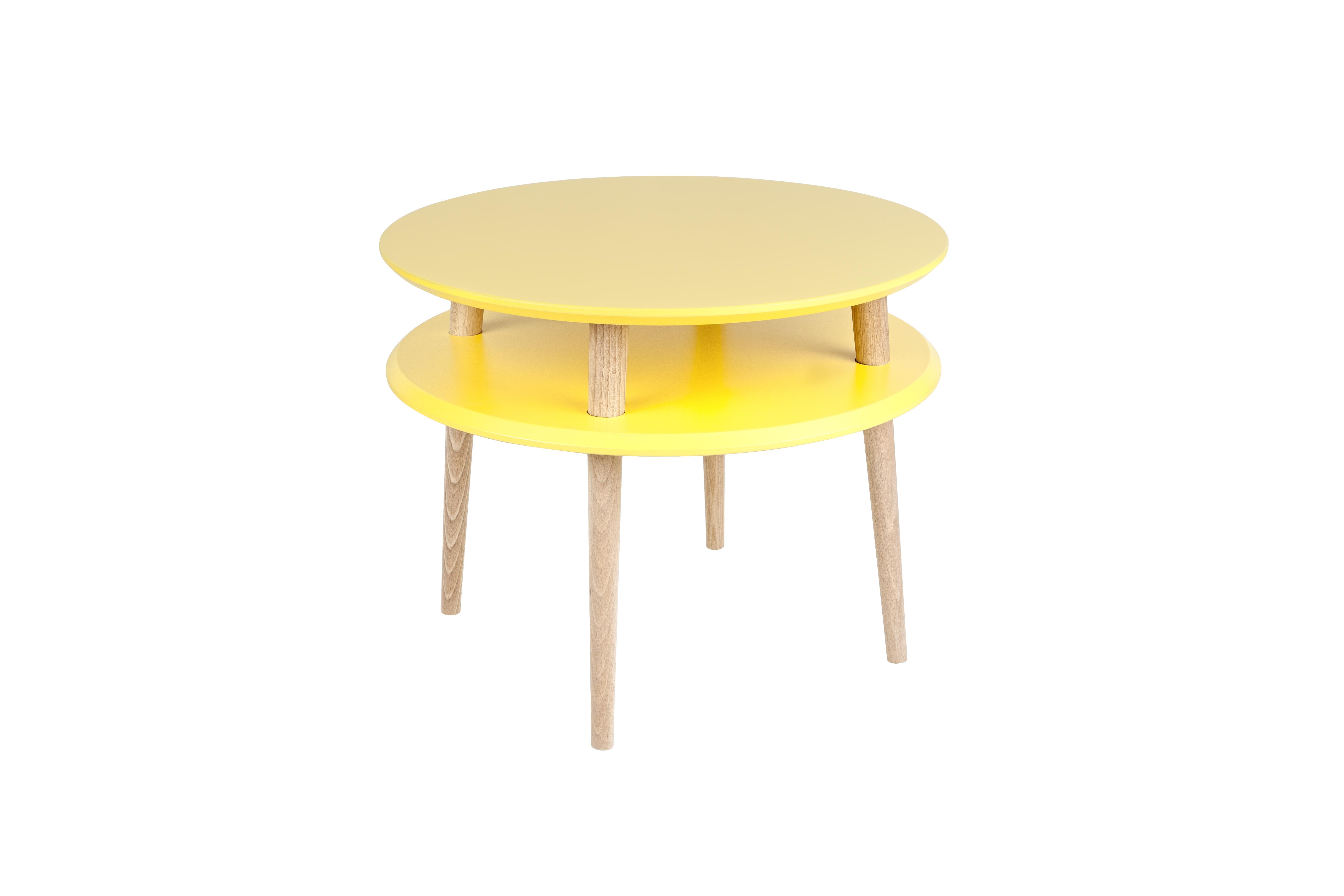 Masa de cafea Ufo Medium Yellow, Ø57xh45 cm