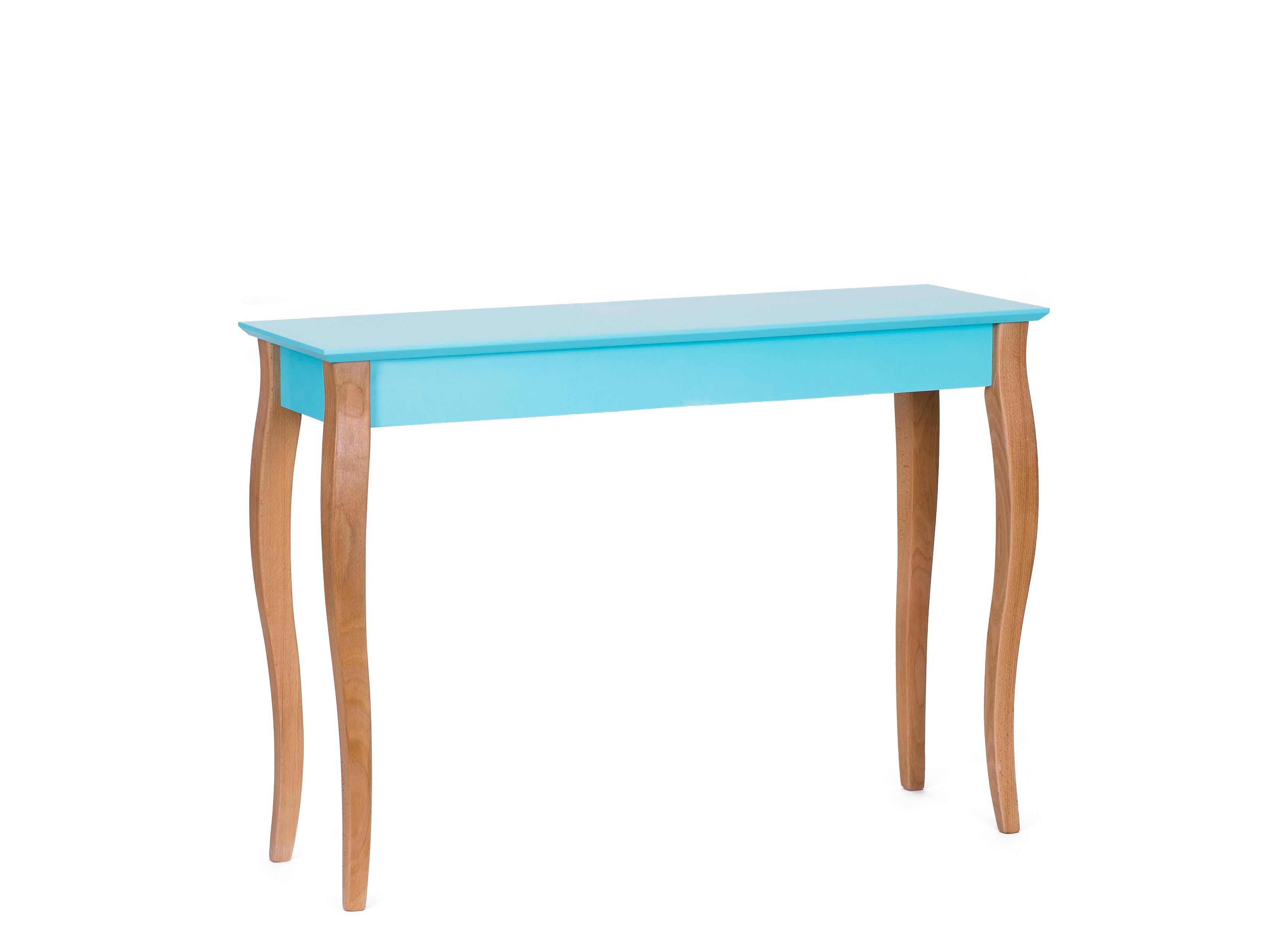 Consola din lemn de fag si MDF Lillo Large Dark Turquoise l105xA35xH74 cm