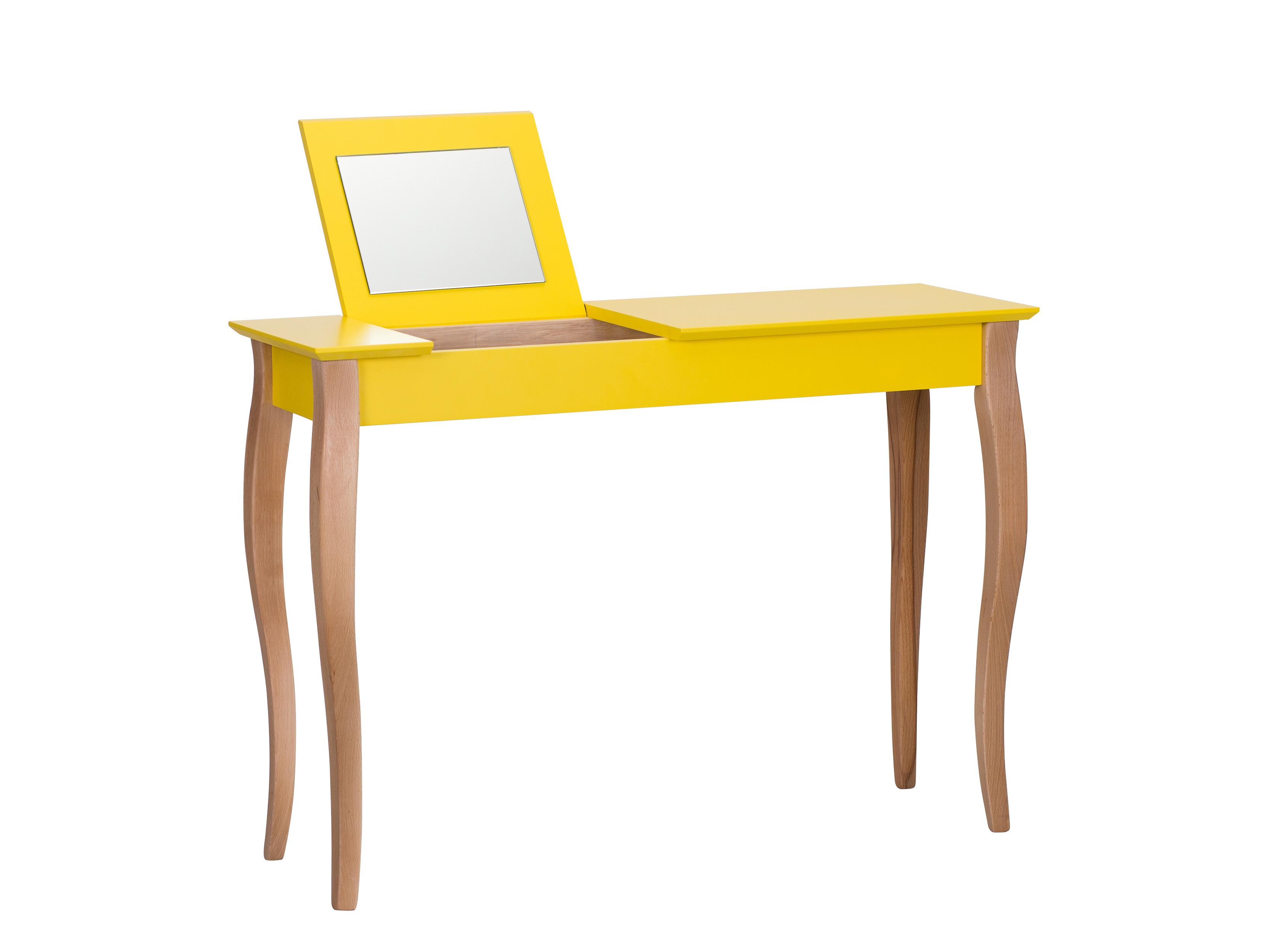 Masa machiaj Lillo Large cu oglinda Yellow L105xl35xh74 cm