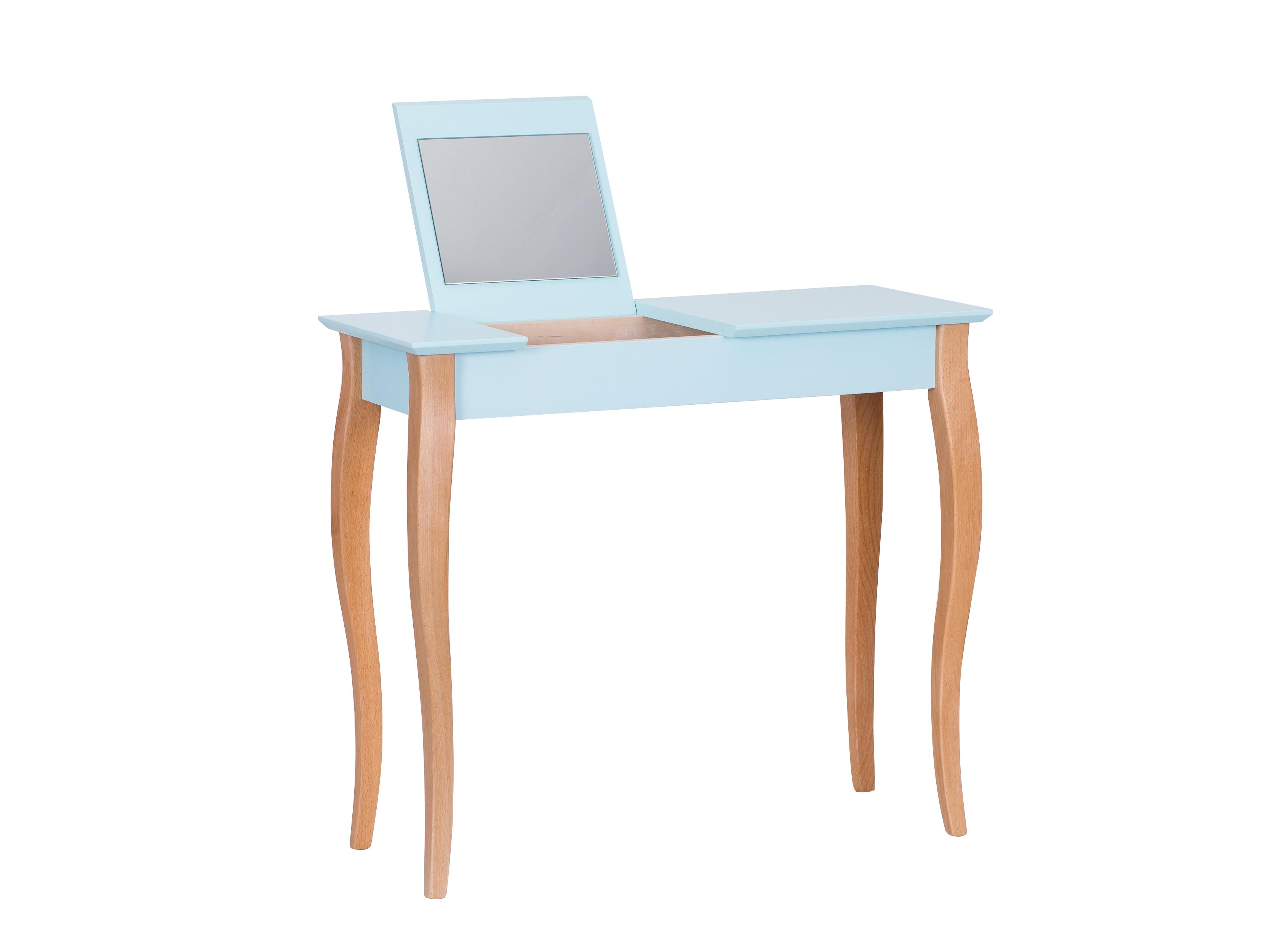 Masa machiaj Lillo Medium cu oglinda Light Turquoise L85xl35xh74 cm