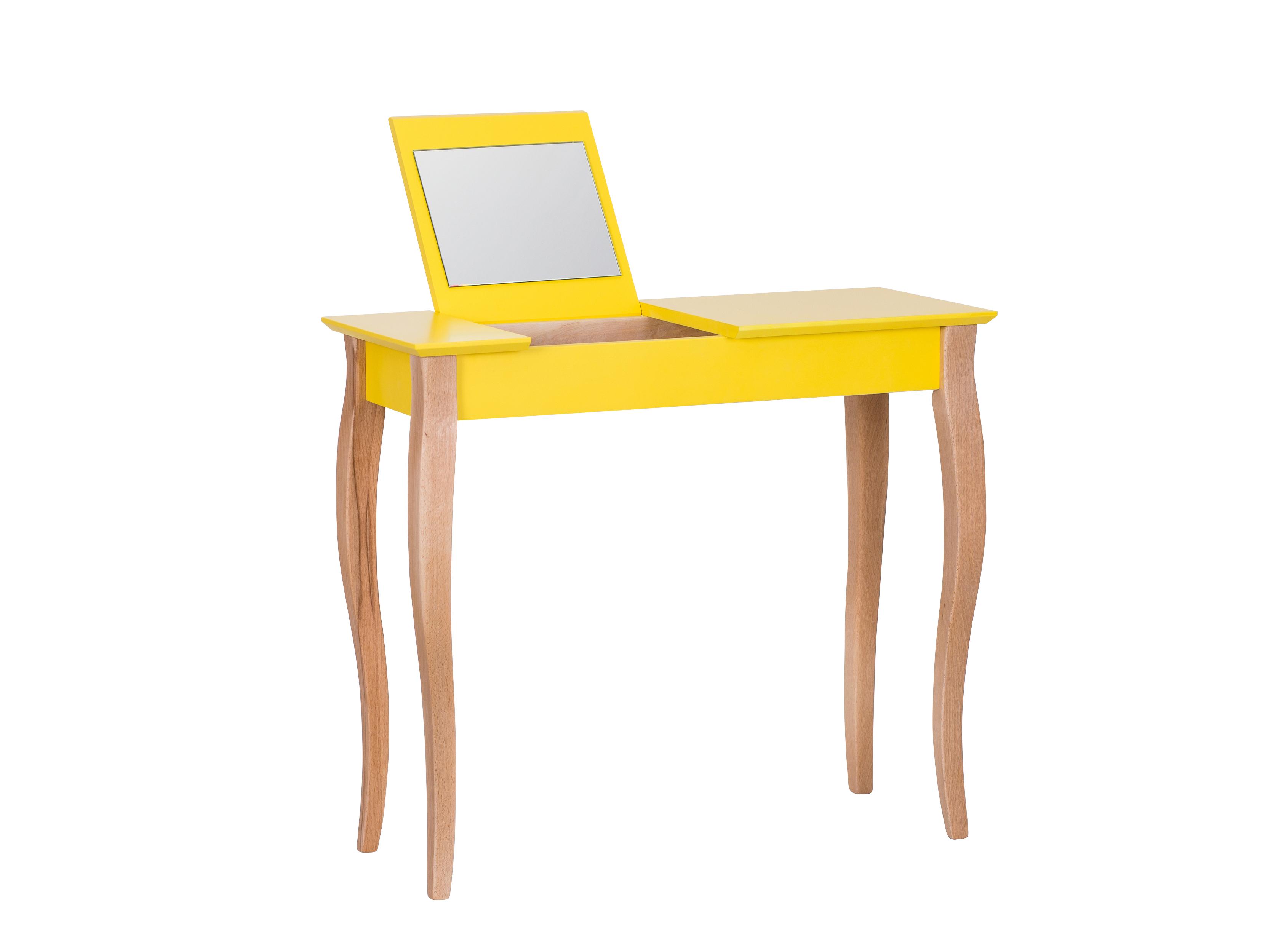 Masa Machiaj Lillo Medium Cu Oglinda Yellow  L85xl