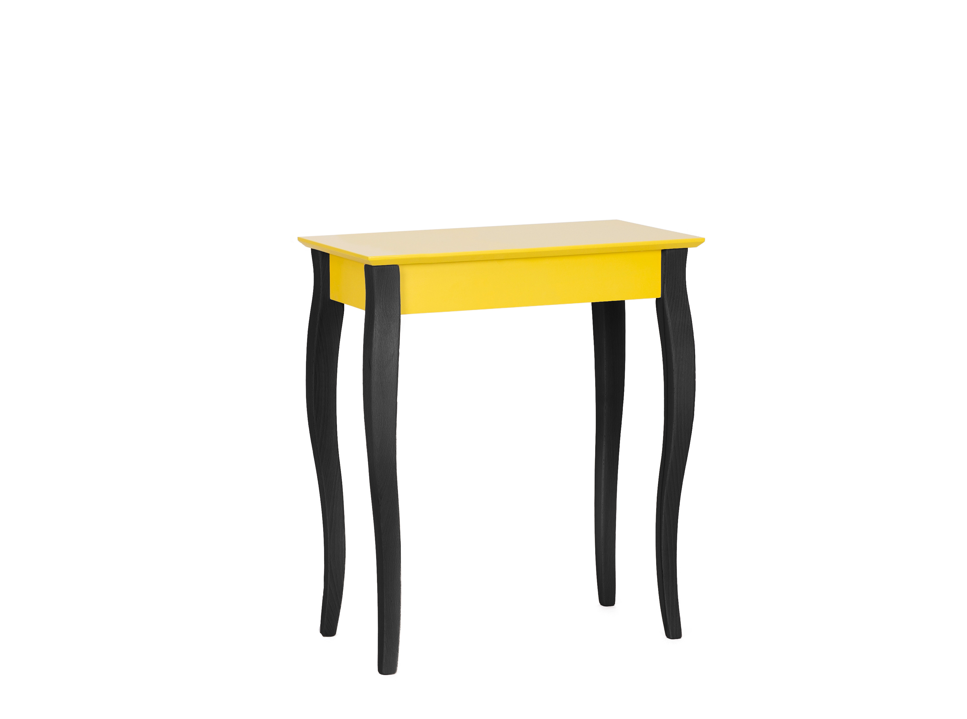Consola din MDF si lemn Lillo Small Yellow / Black l65xA40xH74 cm