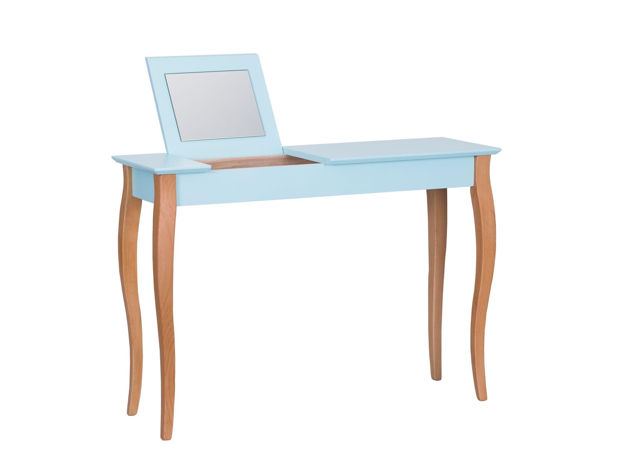 Masa machiaj Lillo Large cu oglinda Light Turquoise L105xl35xh74 cm