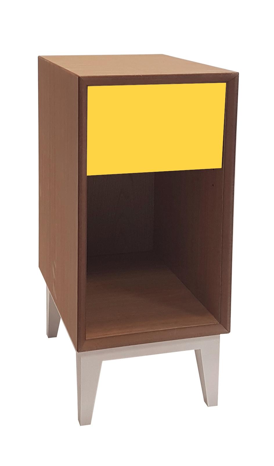 Noptiera din MDF Pix Yellow l30xA40xH50 cm