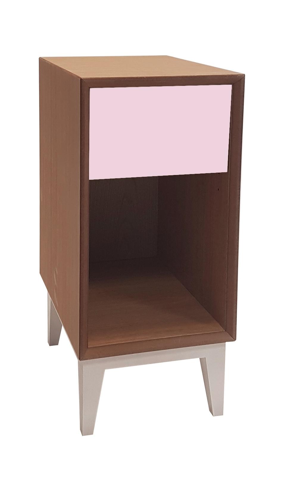 Noptiera din MDF Pix Dusky Pink l30xA40xH50 cm