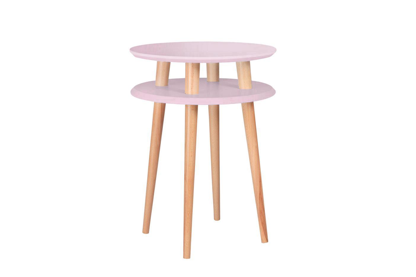Masa de cafea Ufo High Dusky Pink, Ø45xh61 cm
