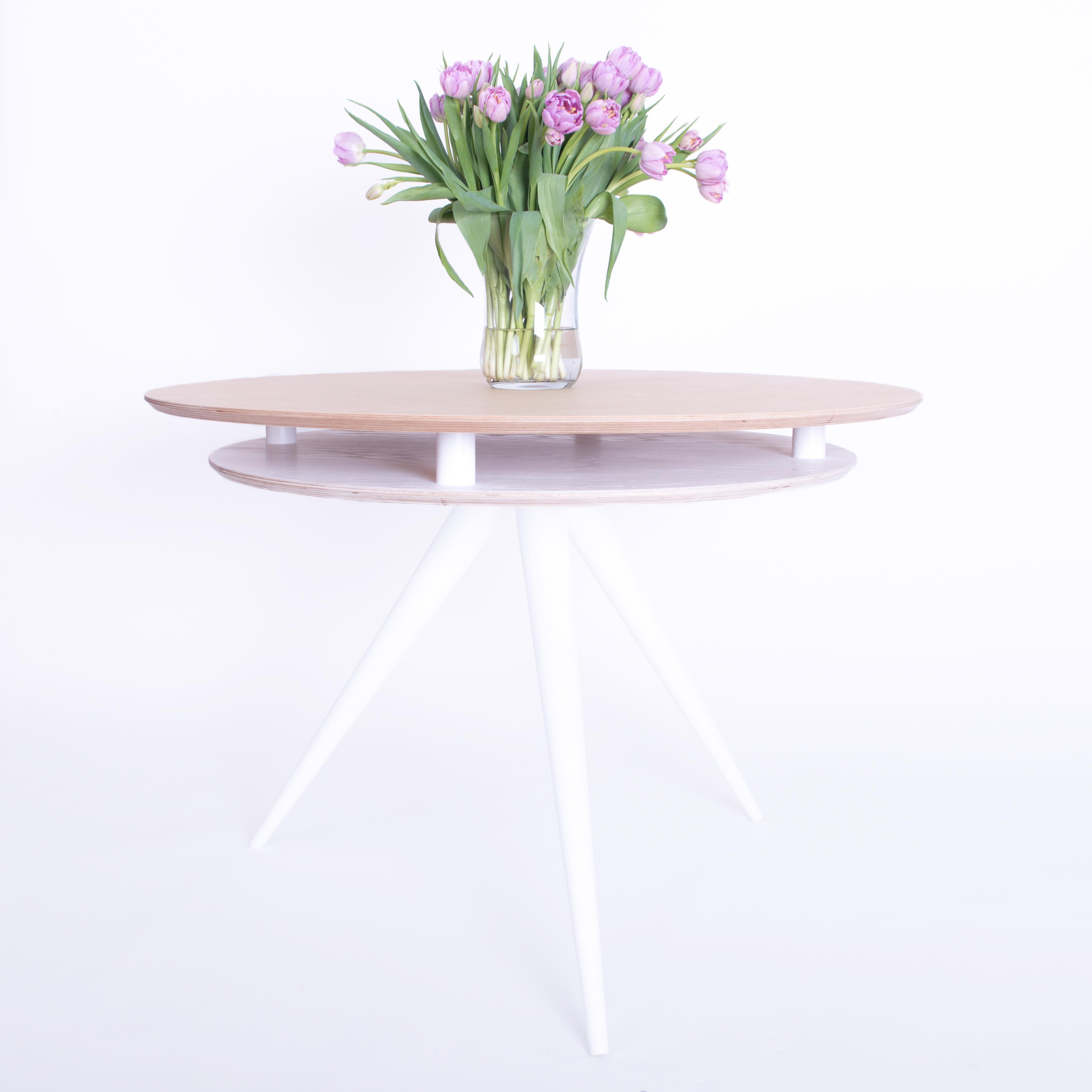 Masa Triad Nature/White, Ø105xh75 cm