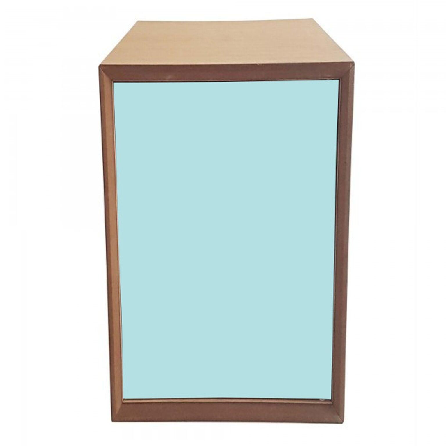 Dulap modular Pixel Light Turquoise / Wooden l40xA40xH80 cm