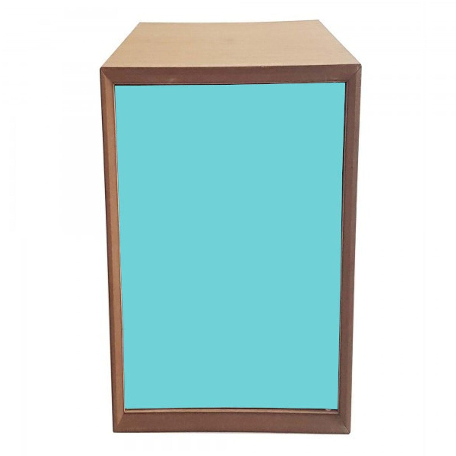 Dulap modular Pixel Dark Turquoise / Wooden l40xA40xH80 cm