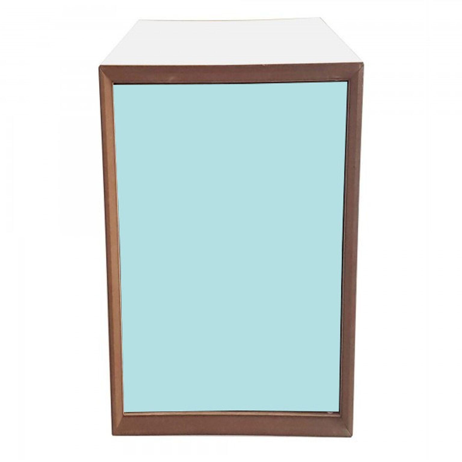 Dulap modular Pixel Light Turquoise / White, l40xA40xH80 cm