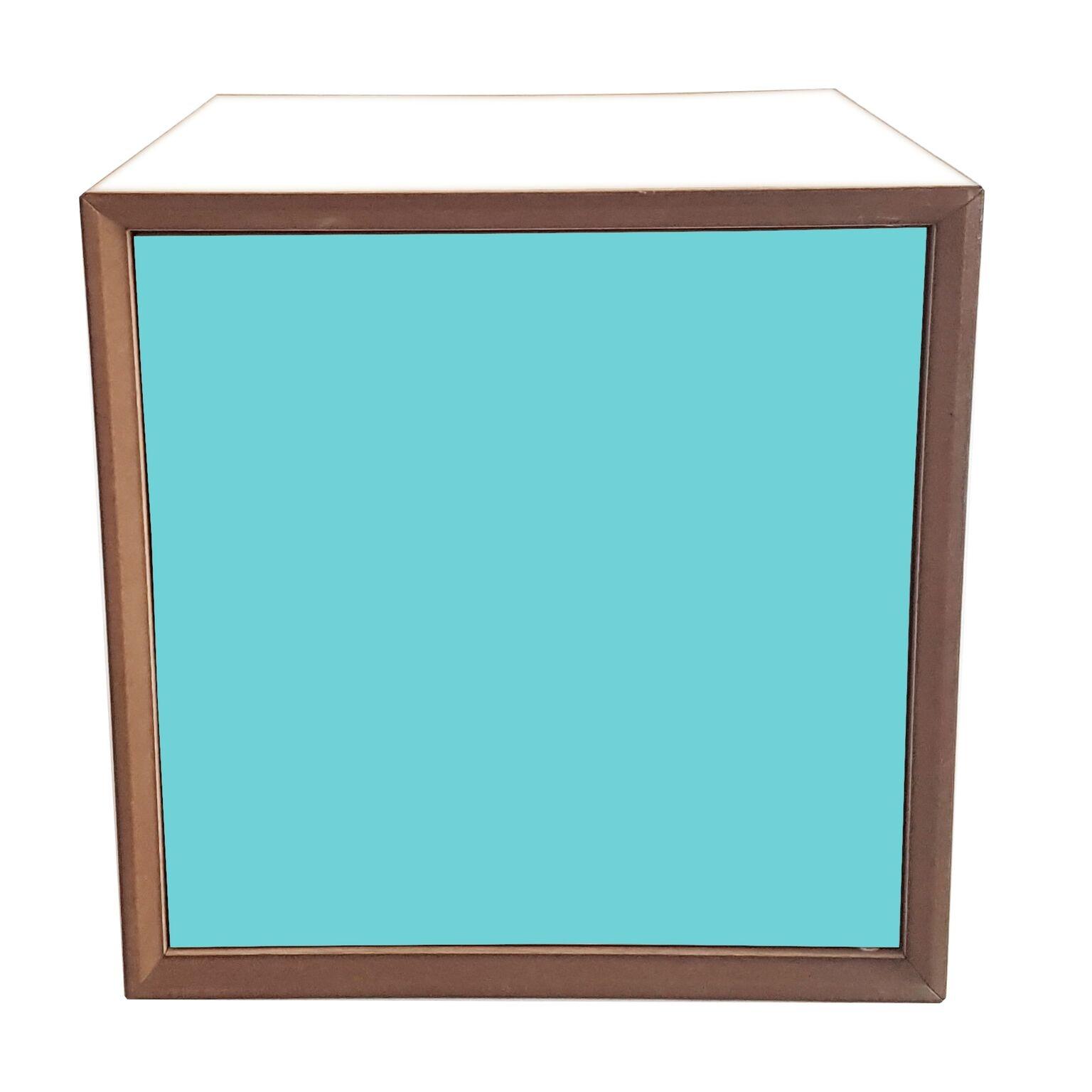 Dulap modular Pixel Dark Turquoise / White l40xA40xH40 cm