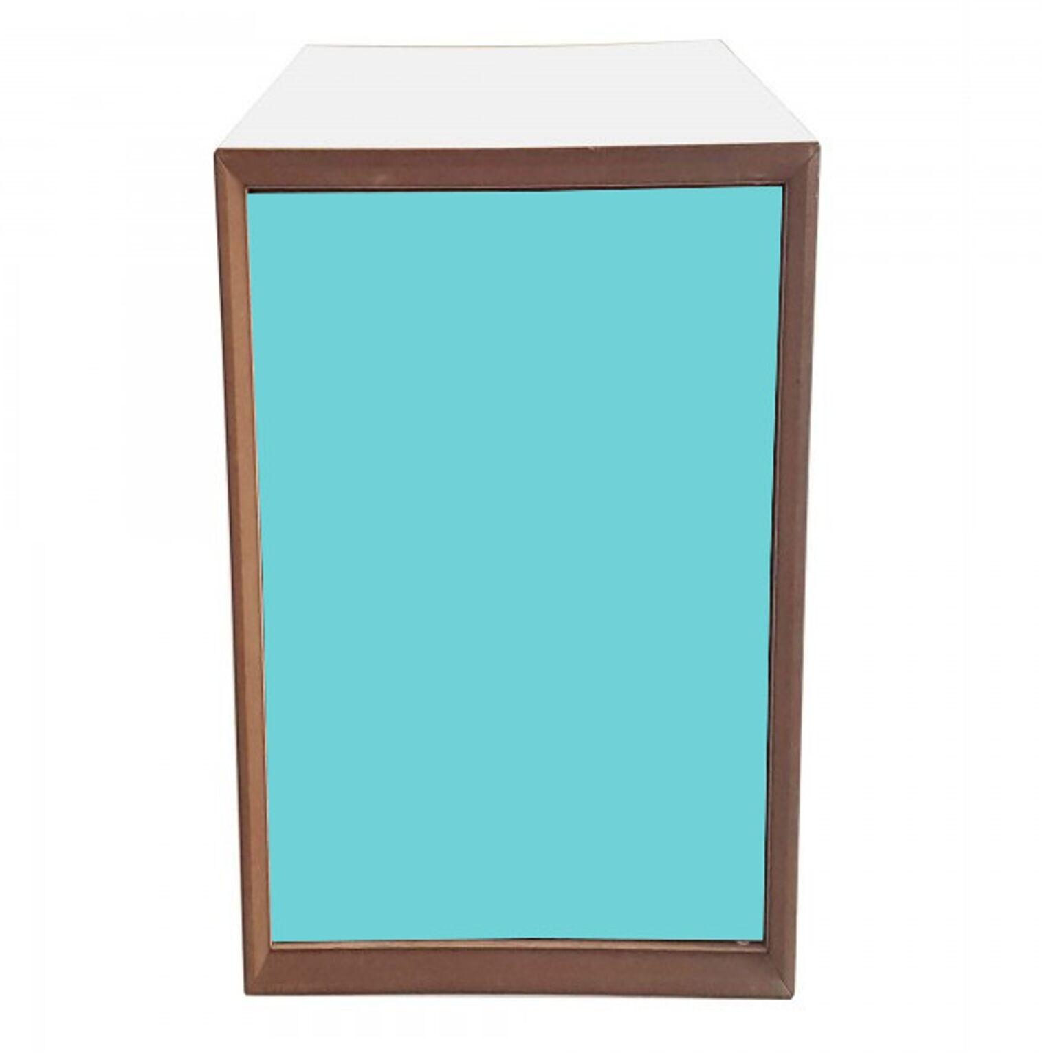 Dulap modular Pixel Dark Turquoise / White l40xA40xH80 cm