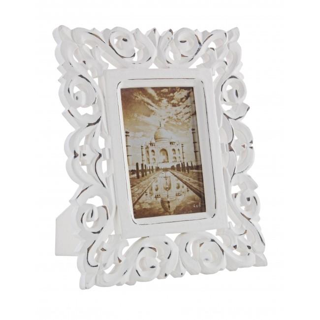 Rama foto decorativa din MDF Dalila Carving Alb 267 x 215 cm