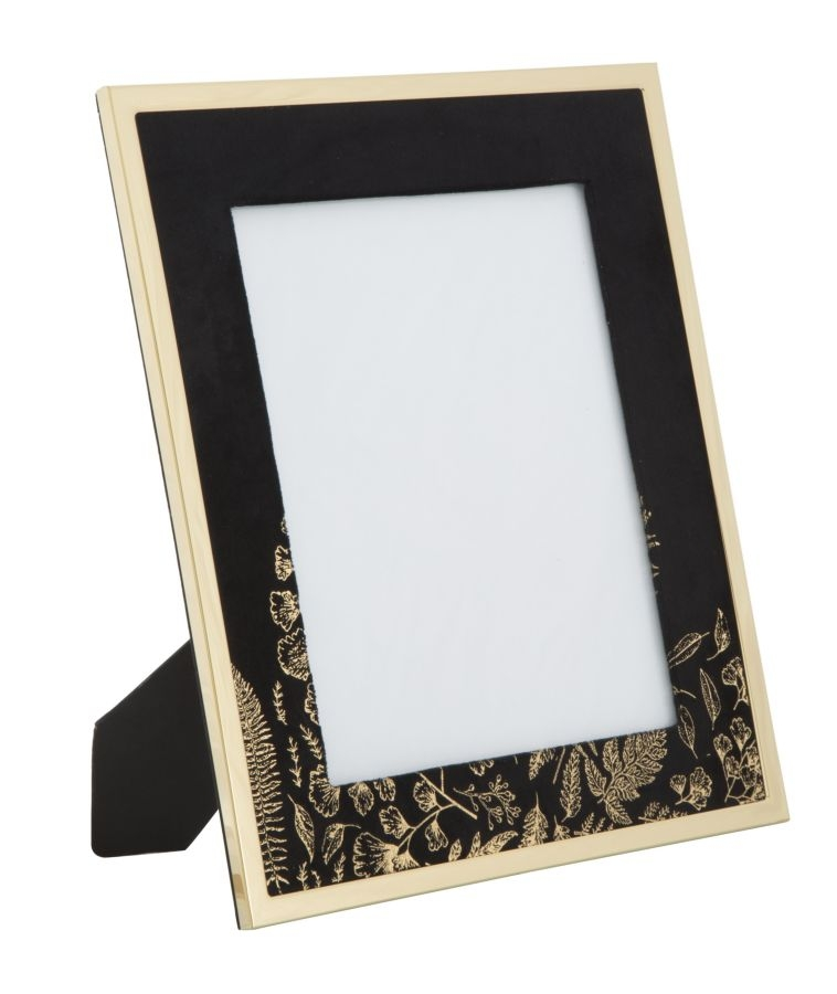 Rama foto decorativa din MDF si metal Black Glam Large Negru / Auriu 28 x 335 cm
