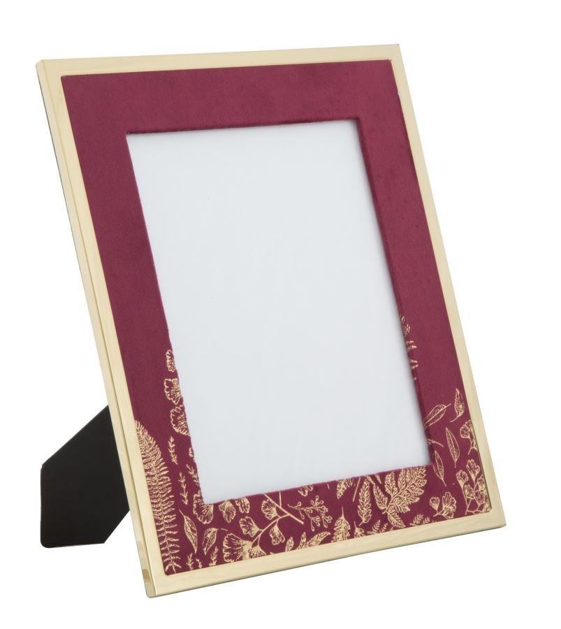 Rama foto decorativa din MDF si metal Glam Large Bordeaux / Auriu 28 x 335 cm