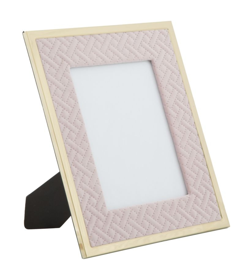 Rama foto decorativa din MDF si metal Rosa Small Roz / Auriu 24 x 29 cm