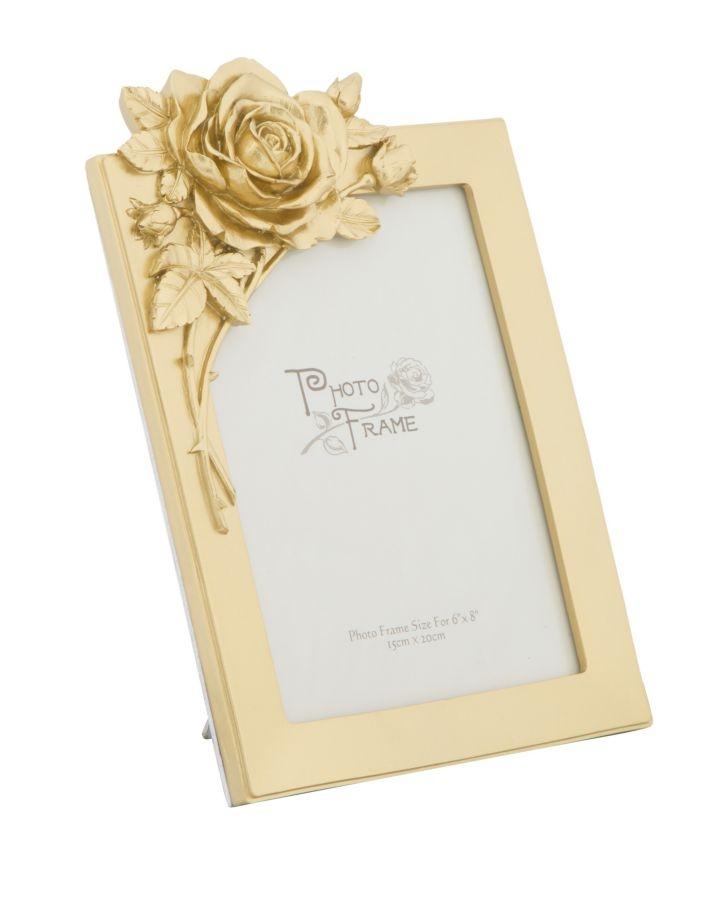 Rama foto decorativa din rasina Rose Small Auriu 194 x 275 cm