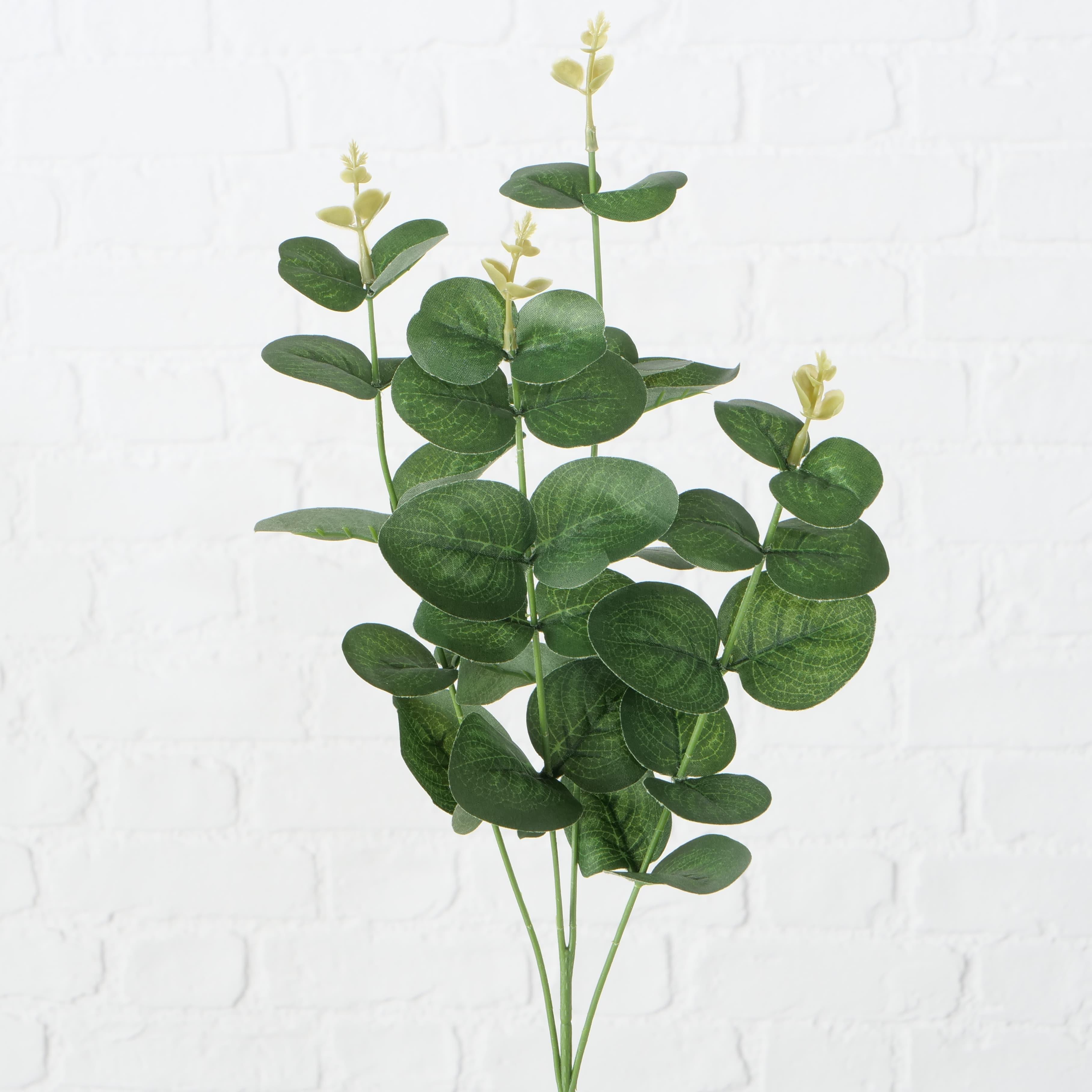 Ramura decorativa artificiala Jonte Verde, H70 cm imagine