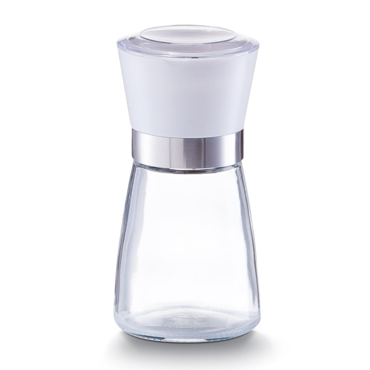Rasnita sare / piper din sticla si plastic, Small White Ø 6,5xH13,6 cm din categoria Sare si Piper