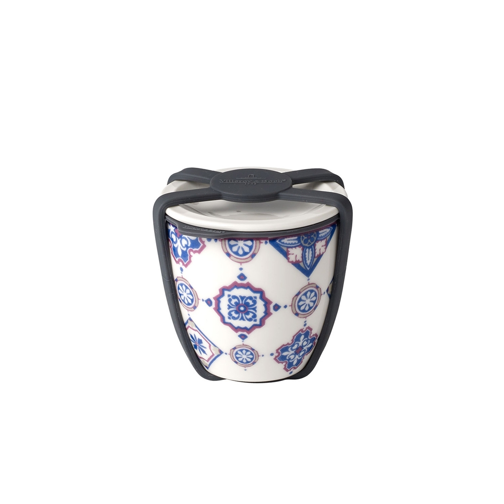 Recipient cu capac din portelan, To Go S Albastru, 80 ml, Villeroy & Boch imagine