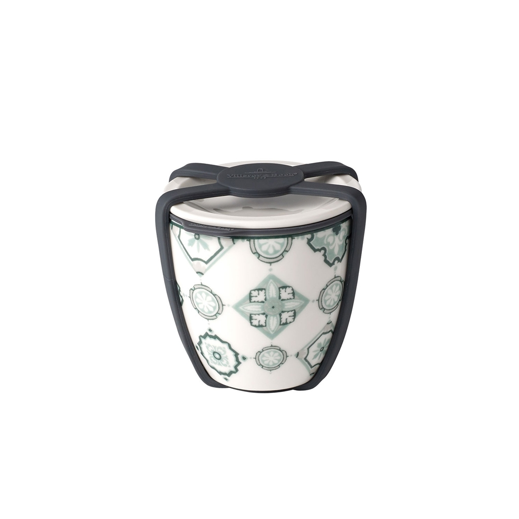 Recipient cu capac din portelan, To Go S Verde, 80 ml, Villeroy & Boch imagine