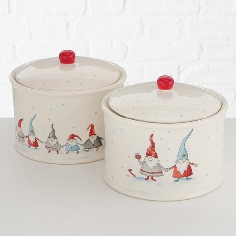 Recipient din ceramica pentru depozitare Viggo Multicolor, Modele Asortate, Ø18xH15 cm imagine