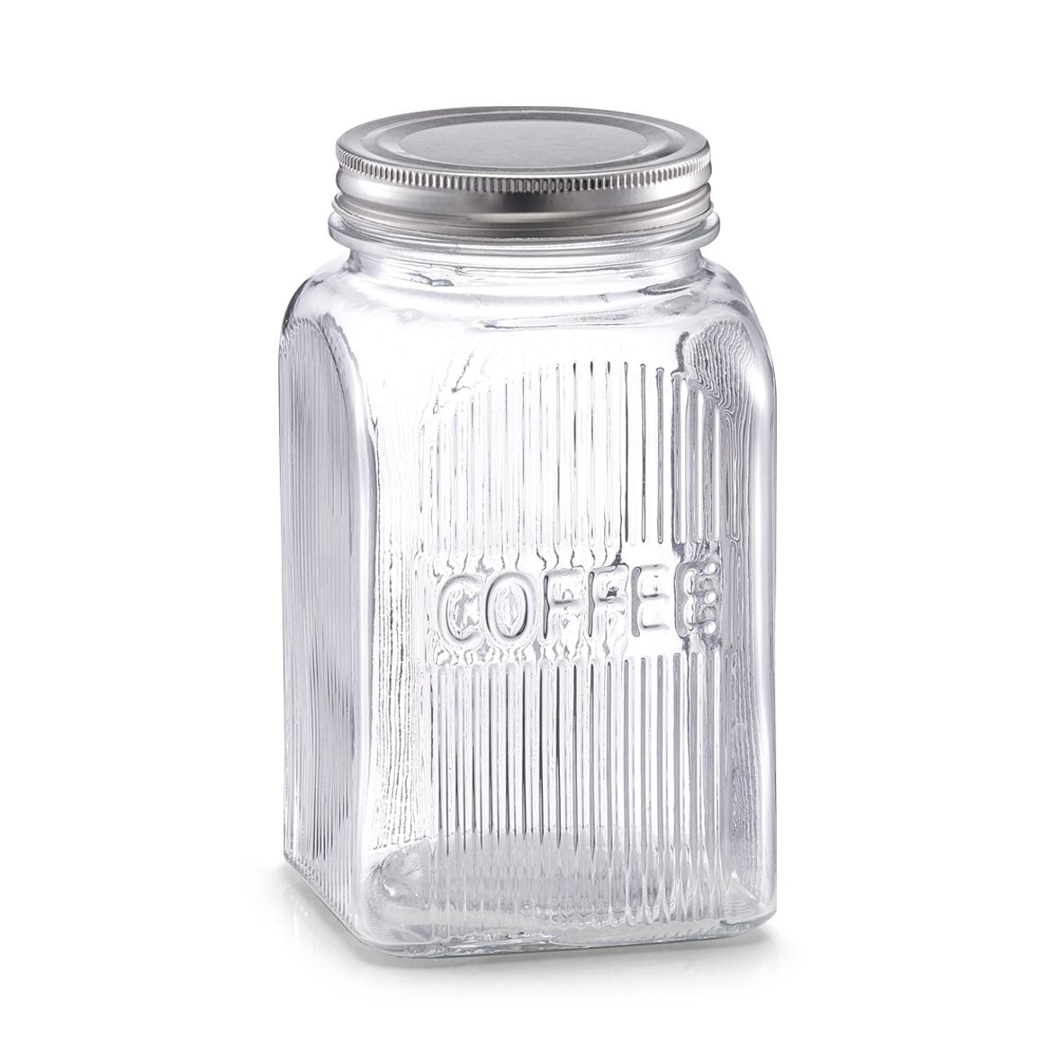 Recipient din sticla pentru cafea Coffee capac metalic 1150 ml l10xA10xH18 cm