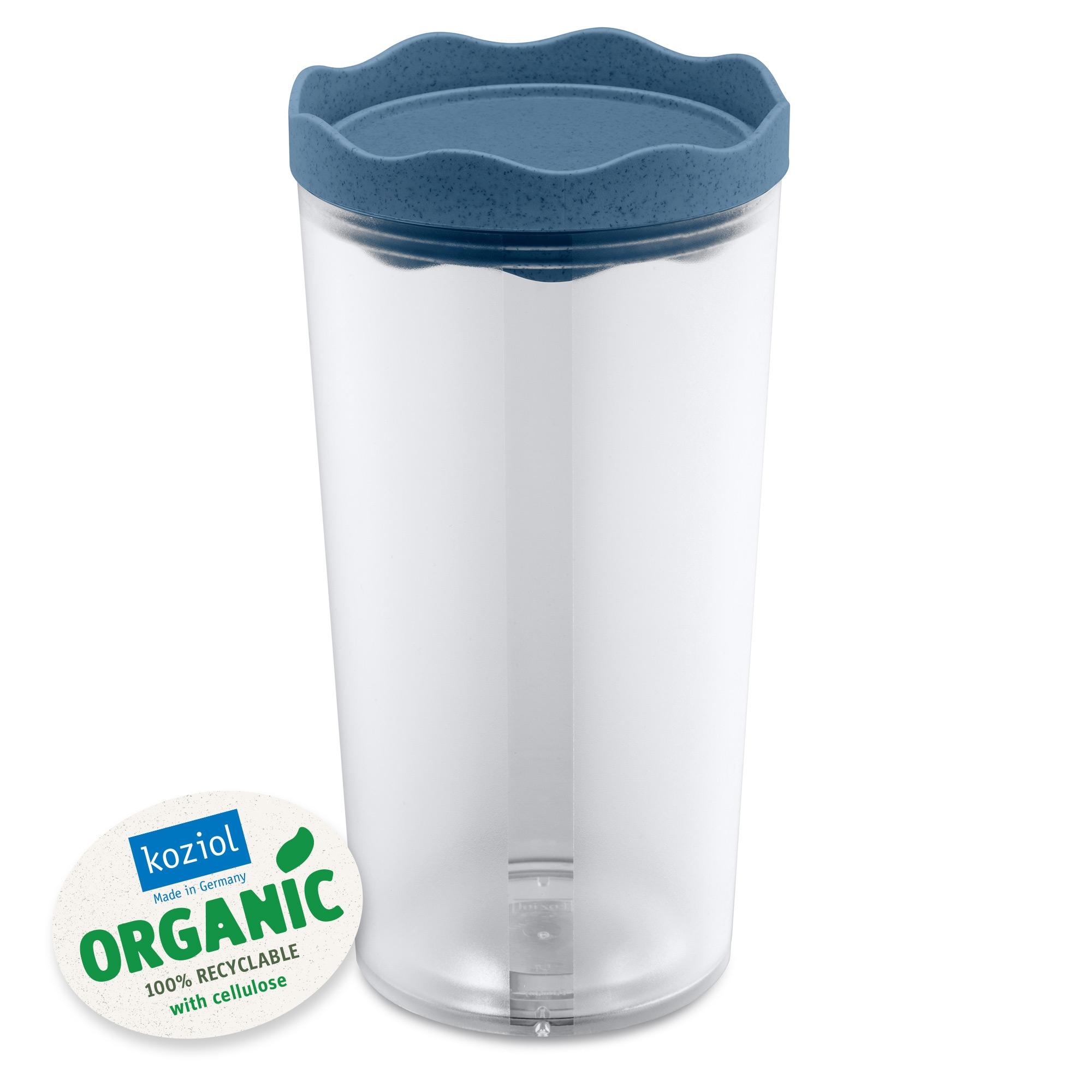 Recipient pentru depozitare cu capac, 100% Reciclabil, Prince L Organic Bleu, 1L poza