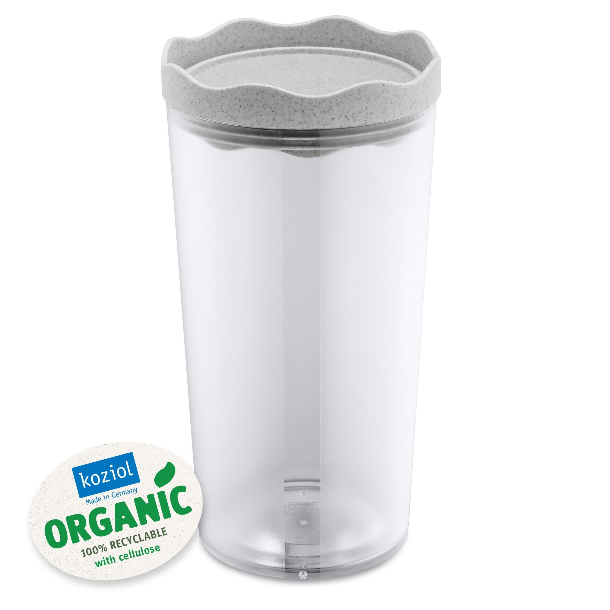 Recipient pentru depozitare cu capac, 100% Reciclabil, Prince L Organic Gri, 1L imagine