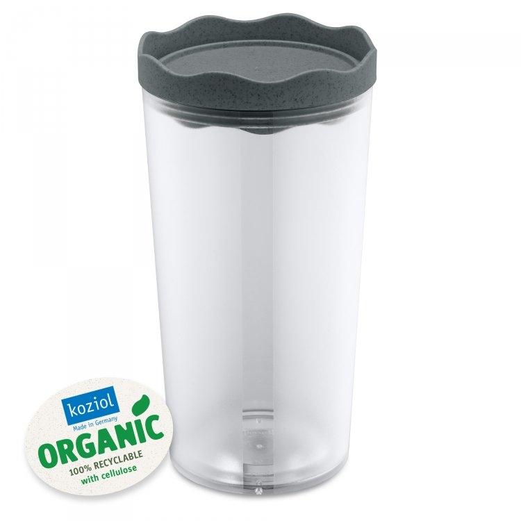 Recipient pentru depozitare cu capac, 100% Reciclabil, Prince L Organic Gri Inchis, 1L poza