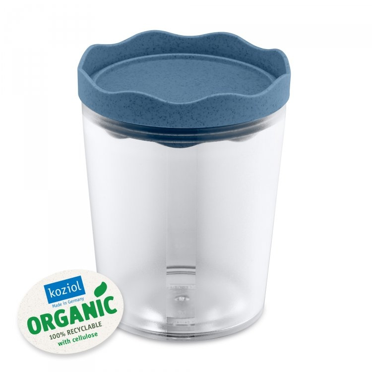 Recipient pentru depozitare cu capac, 100% Reciclabil, Prince M Organic Bleu, 750 ml poza