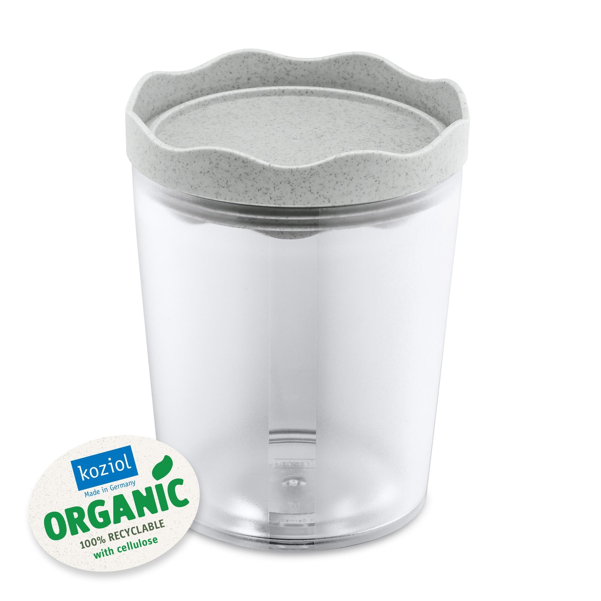 Recipient pentru depozitare cu capac, 100% Reciclabil, Prince M Organic Gri, 750 ml imagine