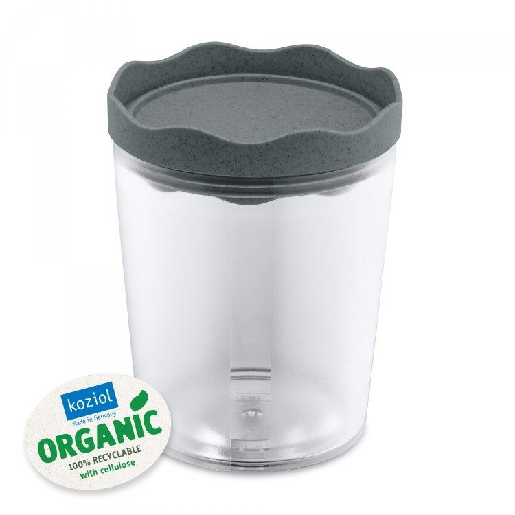 Recipient pentru depozitare cu capac, 100% Reciclabil, Prince M Organic Gri Inchis, 750 ml