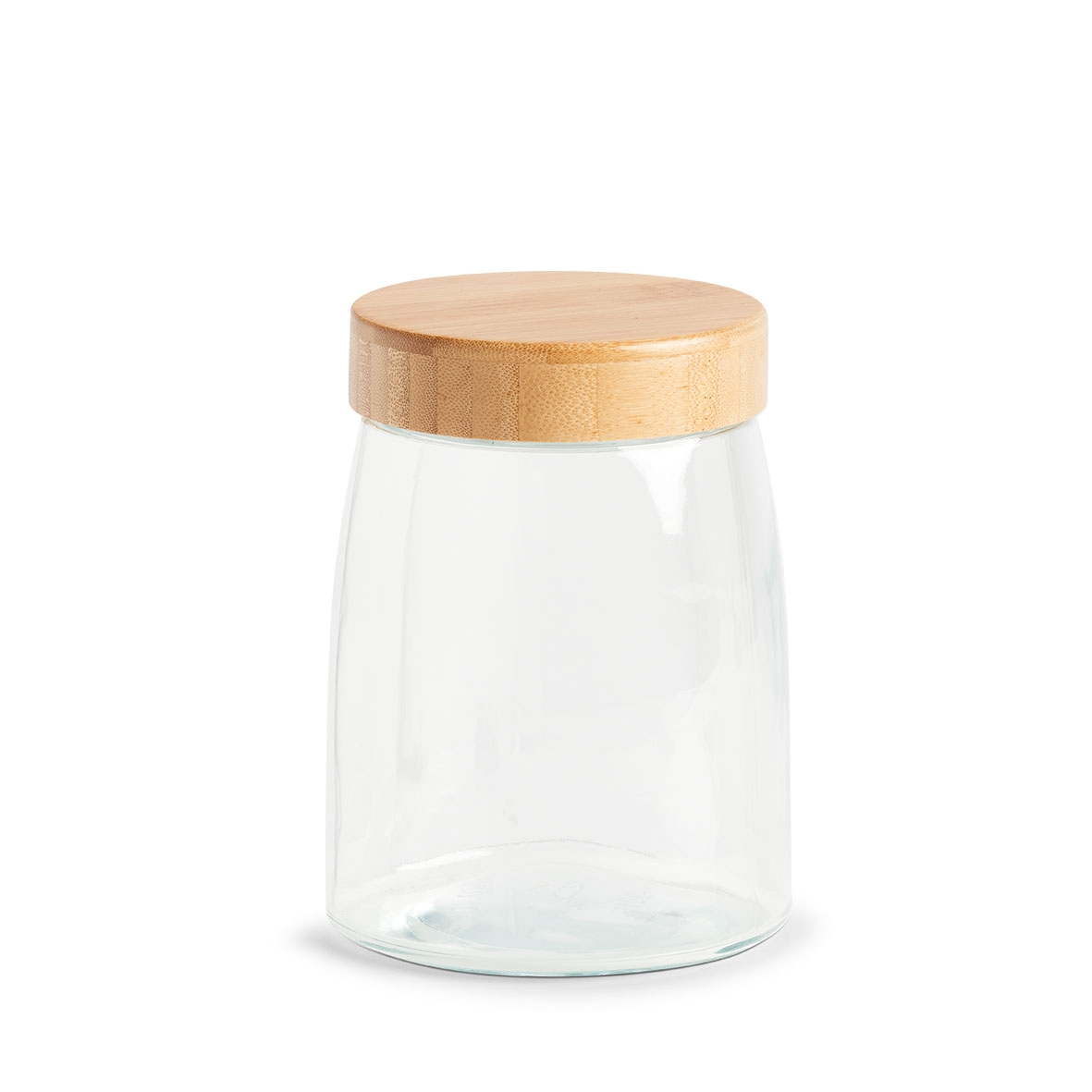 Recipient pentru depozitare cu capac, din sticla, Bamboo Medium Natural, 1300 ml, Ø12,5xH16,5 cm imagine