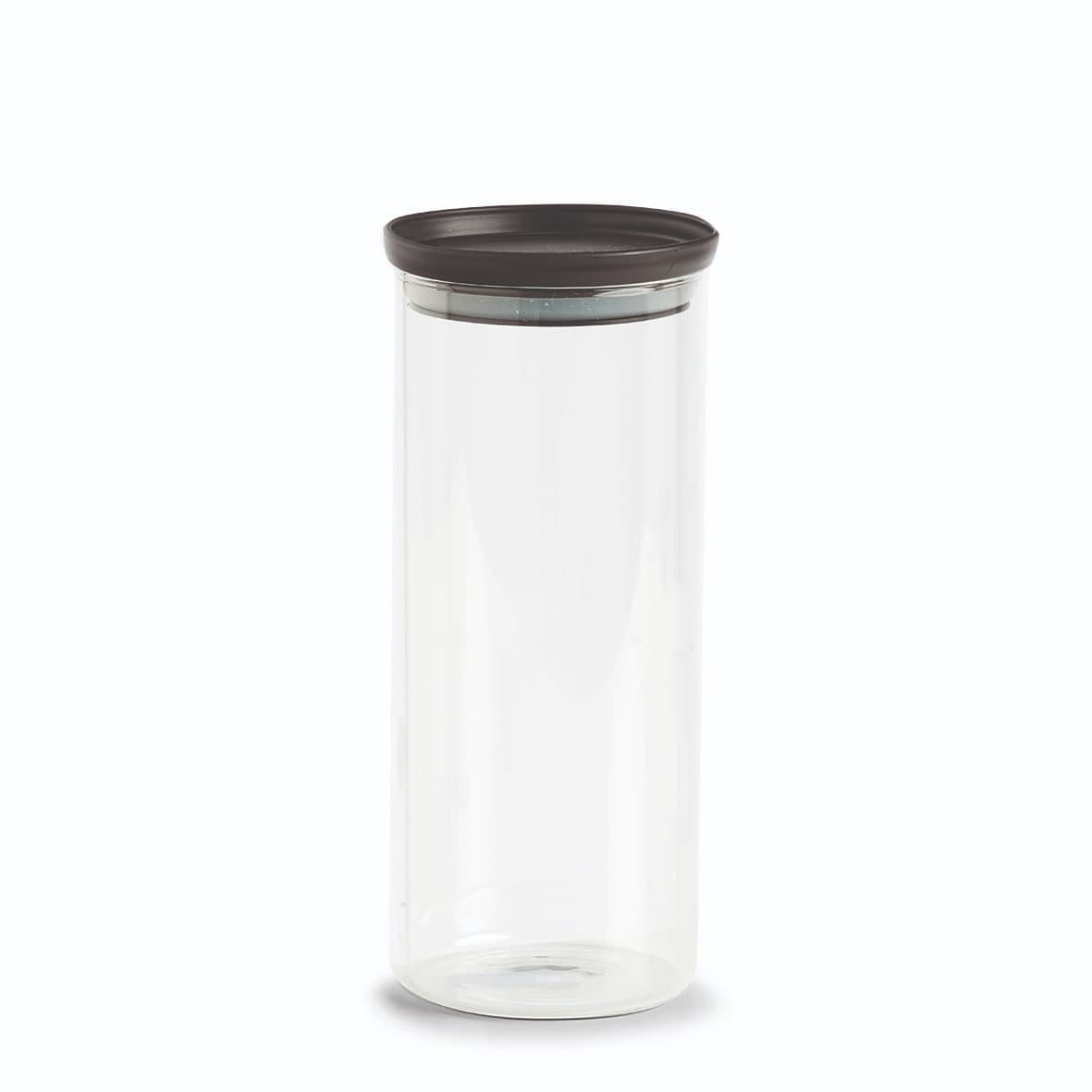 Recipient pentru depozitare cu capac etans, din sticla, Classic Tall Transparent / Negru, 1250 ml, Ø10,3xH23,6 cm poza