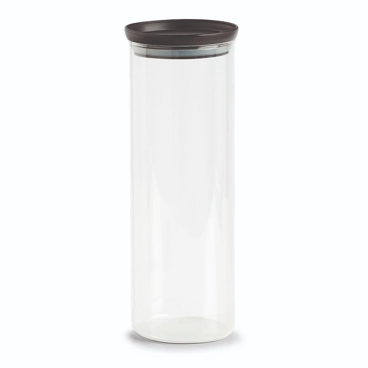 Recipient pentru depozitare cu capac etans, din sticla, Classic Extra Tall Transparent / Negru, 1650 ml, Ø10,3xH28,1 cm poza