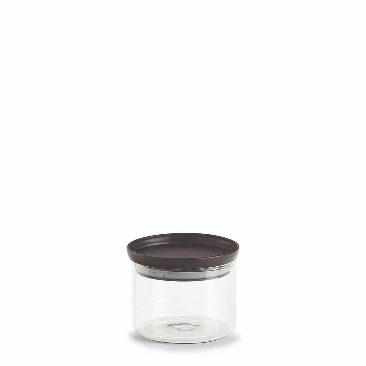 Recipient pentru depozitare cu capac etans, din sticla, Classic Small Transparent / Negru, 350 ml, Ø10,3xH8,1 cm imagine